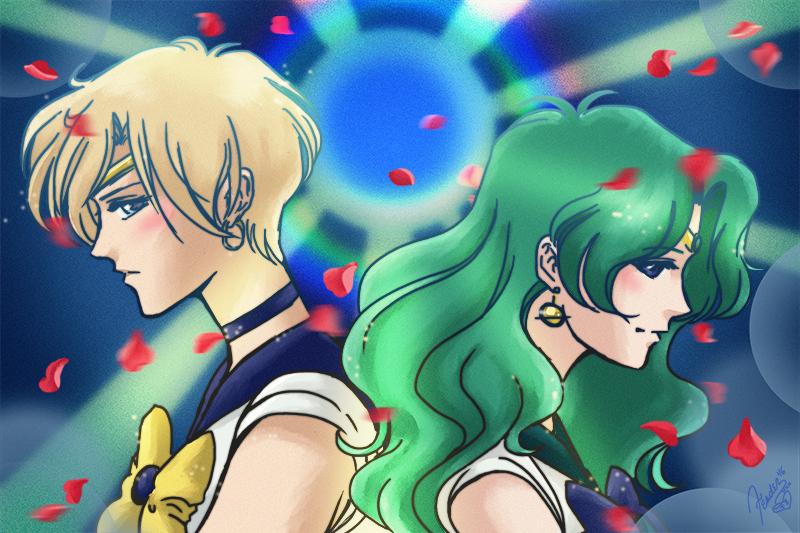 Haruka and Michiru Sailor Moon fanart