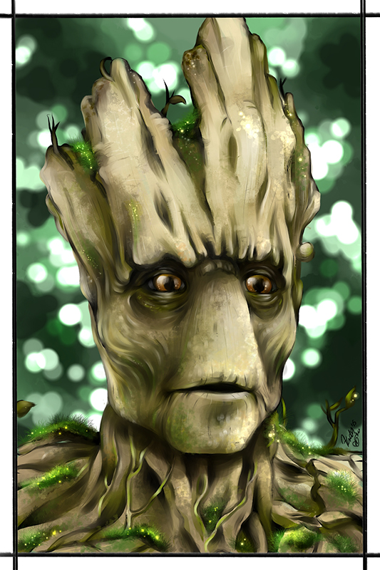 Groot , I guardiani della galassia fanart